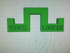 Towel & Loofah holder