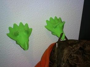 Triceratops coat peg