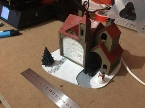 Christmas House Lithophane Lamp
