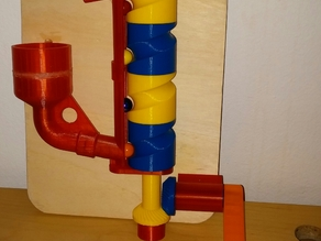 A great marble pump with crank handle