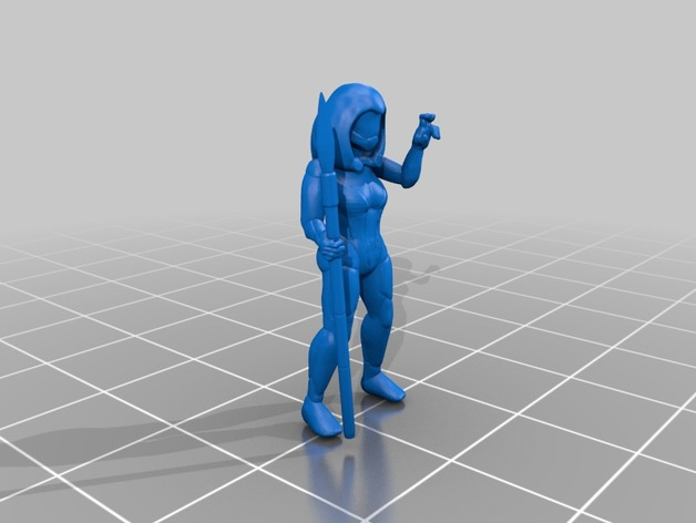 vodyani scientist female by hellionpi - Thingiverse