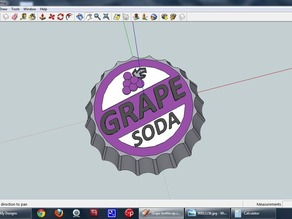 Grape Soda Bottle Cap Prop