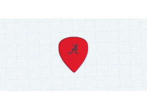 Alabama Crimson Tide Guitar Pick