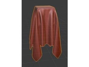 cloth on cube,