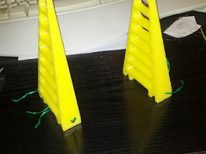 Reinforced rooftop spool stands
