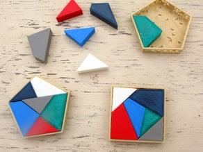 Pentagon into Square Puzzle