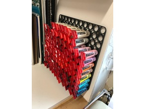 Paint holder - 21mm holes - 11x11