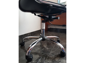 Gas-operated lift cylinder locking mechanism (for office chairs)