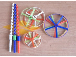 Customizable propeller for spiral launch pad