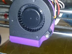 Fan adaptor for RepRap Huxley to house BD5015 radial fan