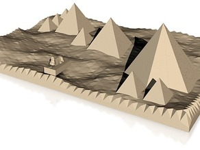 accuarate model of pyramids and sphinx of giza