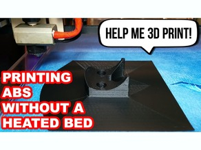Printing ABS Without A Heated Bed