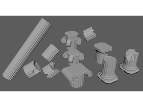 Greek Columns and Orders (28MM Column base)