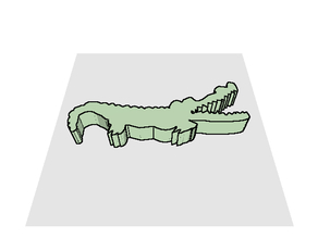 Gator from Doodle 3D