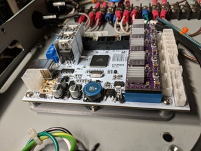 Mounting plate for a GT2560 Melzi board.