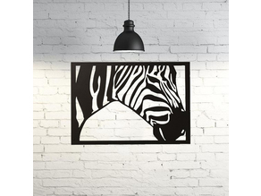 Zebra Wall Sculpture 2D