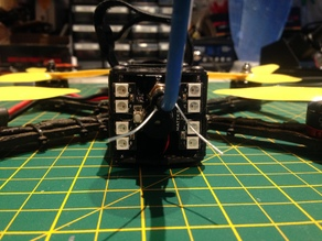 Martian II RX, VTX, LED, and antenna mount.