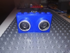 HC-SR04 ultrasonic sensor Lego compliant - Boîtier pour capteur à ultrasons HC-SR04 compatible Lego