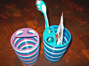 Smiling Toothbrush & Toothpaste cup