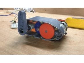 3D-printable High torque servo/gear reduction