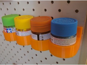 Pegboard paint holder