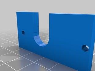 Prusa I3 Geared stepper  extruder (e3d hotend grovemount plate)