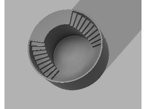 Circle pot double staircase