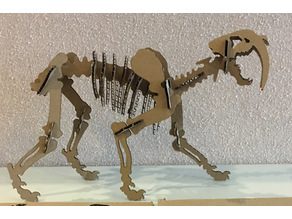 Sabertooth 3D Puzzle Laser Cut