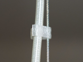 Cable clip for ceiling lamp cable and wire