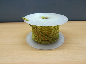 Throwing line reel (unclippable)