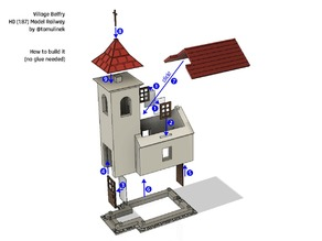 Village Belfry for Model Railway and Scenery (H0)
