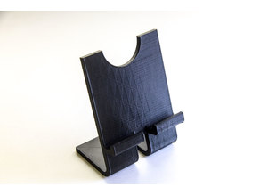 Universal Phone Stand with charging and finger ring cutouts