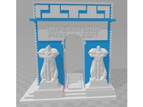 Greebles to convert 3D Wooden Puzzle to WH40k Arch