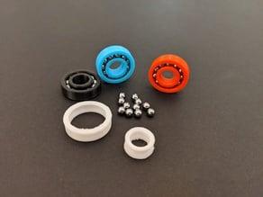 Functional bearing with steal BB gun balls