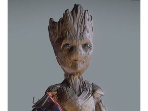 TEEN GROOT BUST INSPIRITED MODEL