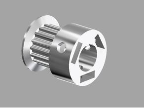 """GT2 16T Timing Pulley (6.35mm shaft, 1/4"""") with triple set screw (not suitable for CNC)"""