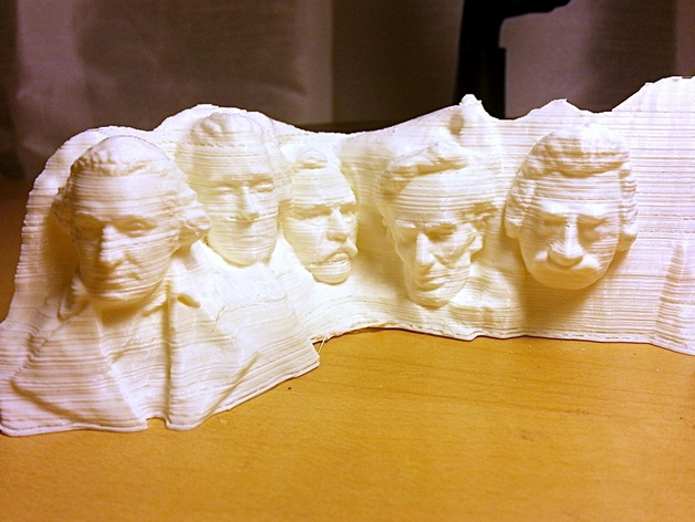 Add a Face to Mt. Rushmore by mfritz - Thingiverse