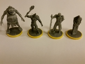 3D fantasy minis as proxies for Dungeon Twister Original