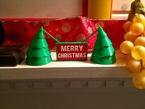 Sagging trees Christmas sign