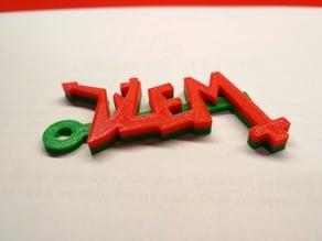 Dzem Logo Keychain