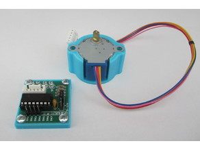 Stepper motor and driver board mount for 28BYJ-48
