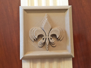Fleur de lis rosette moulding for doors and windows