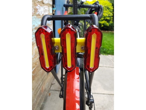 Bike Triple Tail Light Bracket For Pannier Rack
