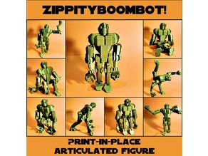 Print-in-place articulated figure: Zippityboombot!