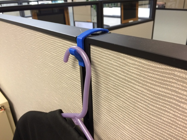 Coat Hanger Hook For Cubicle Wall By 40E40 Thingiverse Beauteous Cubicle Coat Rack