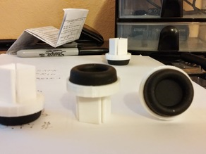 Vibration reducing corner pieces for (feet) rigidbot.