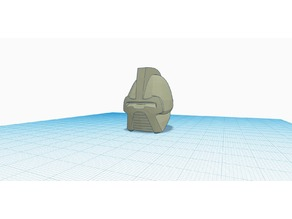 Cylon Centurion Helmet (Classic BSG) (warning:Low poly and too small)