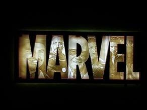Marvel heroes Lithopane