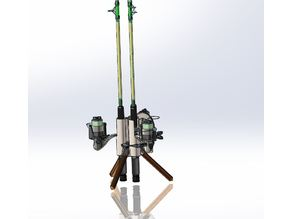Fishing Rod Carrier / Stand 3 Rod with legs