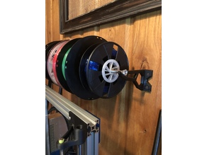 Wall mount spool bracket